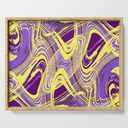 Yellow and Purple Dancing the Tango Serving Tray