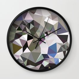 Davy Grey Abstract Low Polygon Background Wall Clock