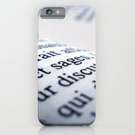 French Book iPhone Case