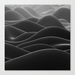 Dark sea of wax Canvas Print