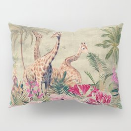 Vintage & Shabby Chic - Tropical Animals And Flower Garden Pillow Sham