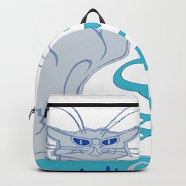 Le Chat Blanc Parody Vector Backpack