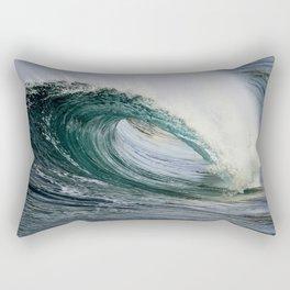 Wedge Waves / Green Barrel Rectangular Pillow
