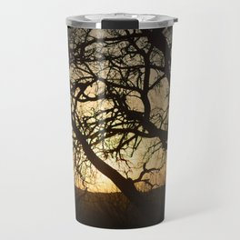 Sunset Through the Trees Travel Mug