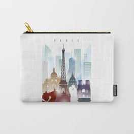 Paris city skyline, France Carry-All Pouch