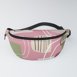 Pink Mid Century Modern Fanny Pack