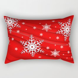 Abstract background with snowflakes Rectangular Pillow
