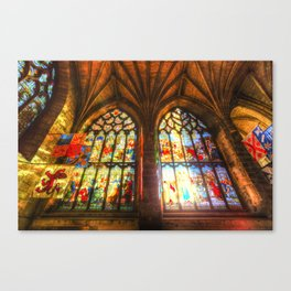 Cathedral Stained Glass Window Canvas Print