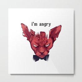 I am Angry Metal Print