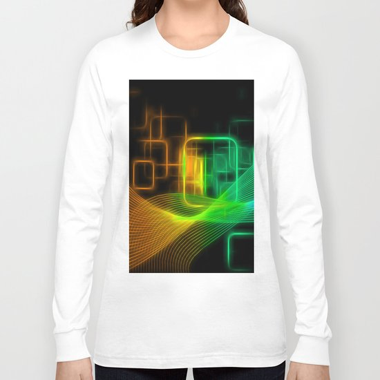 Abstract glowing lines Long Sleeve T-shirt