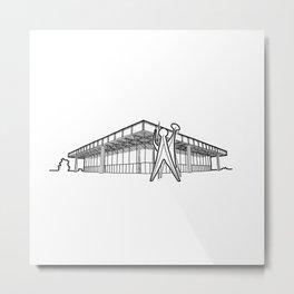 Mies - Berlin National Gallery Sketch (B) Metal Print