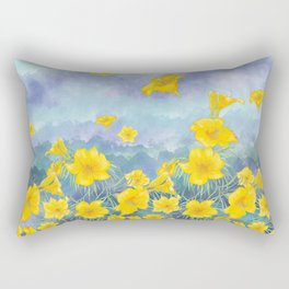Stella D'Oro Daylily flowers over clouds Rectangular Pillow
