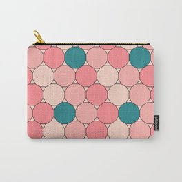 Retro Pattern Dodecagon Pink Carry-All Pouch