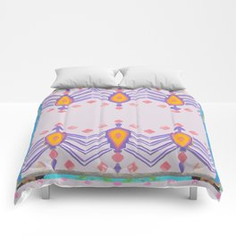 Painted Indian Tribal Pattern Dusky Pink Comforters