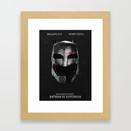 Batman/Vs/Superman Minimalist Digital Fan Art Movie Poster Framed Art Print
