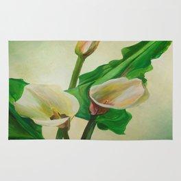 Three Calla Lilies Rug
