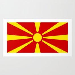 Macedonian national flag Art Print
