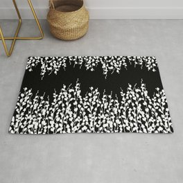 Pussywillow Design | Black • White Rug