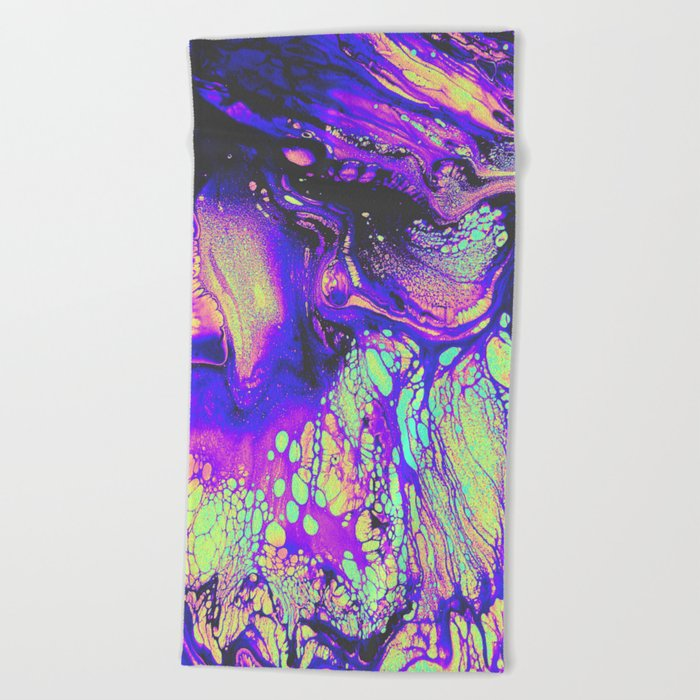 FIRE AND THUD Beach Towel
