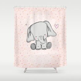 elephant girly cuty Shower Curtain