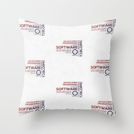 Programmer: Typography Programming - Color Throw Pillow