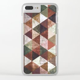Abstract #829 Clear iPhone Case