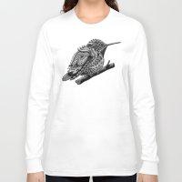 hummingbird Long Sleeve T-shirts featuring Hummingbird by BIOWORKZ