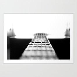 The Black Guitar Art Print