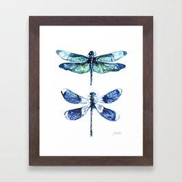 Dragonfly Wings Framed Art Print