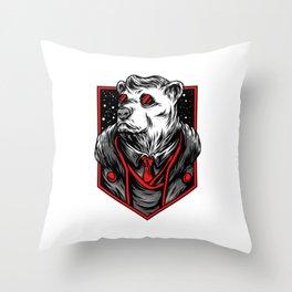 Mafia Bear Throw Pillow