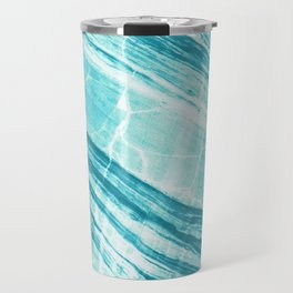 Abstract Marble - Teal Turquoise Travel Mug