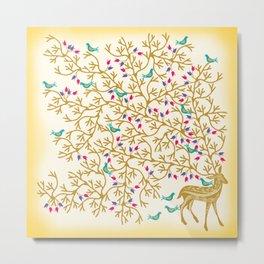Deer Beautiful Burden Metal Print