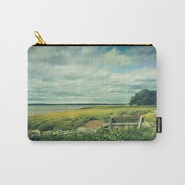 Bench at Newport Landing Carry-All Pouch