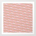 Cycling Trendy Rainbow Text Pattern (Pink) by thelightfield