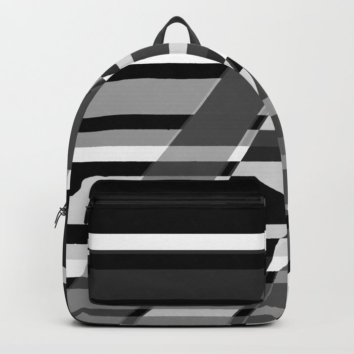 Black and white abstract pattern . The slant line 1. Backpack