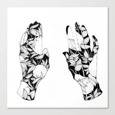 Hands together Canvas Print
