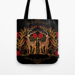 Two Stags Protecting The Dark Forest Gate Tote Bag