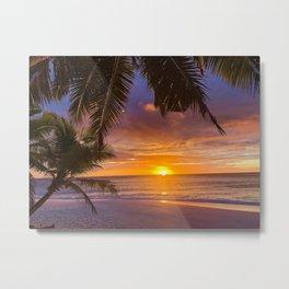 Gorgeous Tropical Sunset Metal Print
