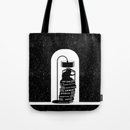 CAT READING SHAKESPEARE Tote Bag