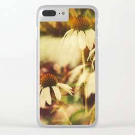 Cone Flowers (Warm) Clear iPhone Case