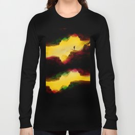 Hi from the The Upside Down Long Sleeve T-shirt