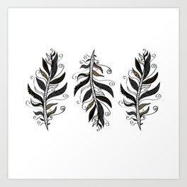 TRIBAL FEATHERS Art Print