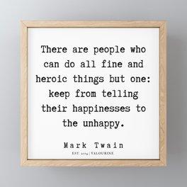 96    | Mark Twain Quotes | 190730 Framed Mini Art Print
