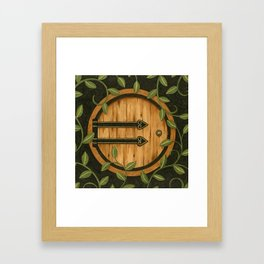 In a hole in the ground Framed Art Print