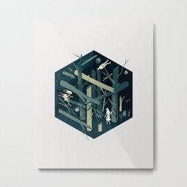 Cube 02 Metal Print