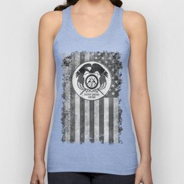 Faith Hope Liberty & Freedom Eagle on US flag Unisex Tank Top