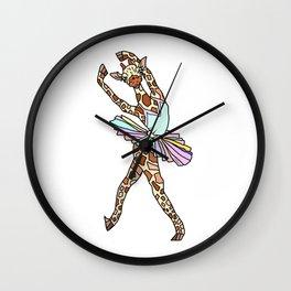 Giraffe Ballerina Tutu Wall Clock