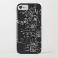 hogwarts iPhone & iPod Cases featuring Hogwarts Castle by Jessica Slater Design & Illustration