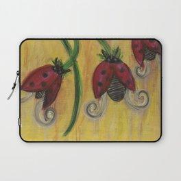 Ladybug Flowers Laptop Sleeve