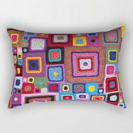 cozy crochet  Rectangular Pillow